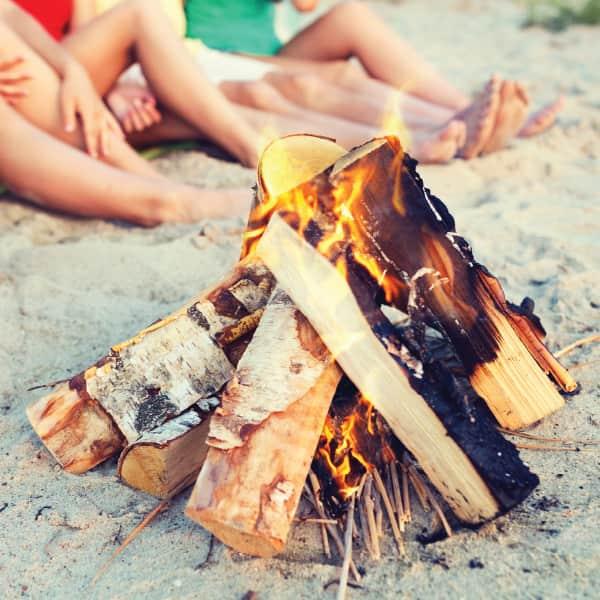 Bonfire on the beach (one night)