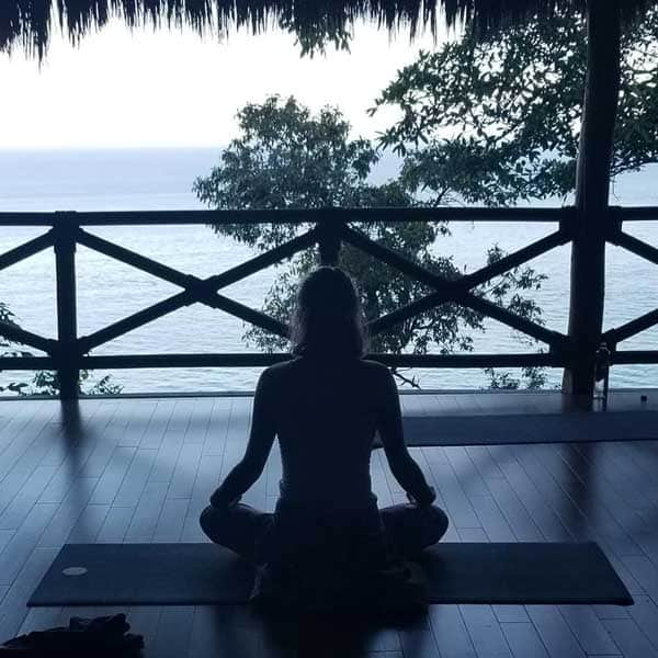 Morning yoga practice